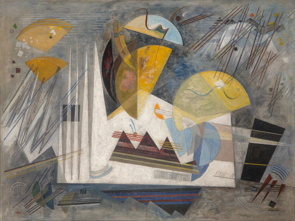 WERNER DREWES  (1899-1985)   Winterlich , 1935 Oil on canvas 33 x 43 3/4 inches Private Collection