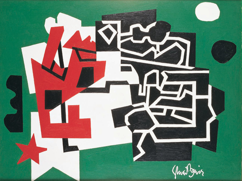 STUART DAVIS  (1892-1964)  Memo Number Two  1956 Oil on canvas 24 x 32 inches Private Collection