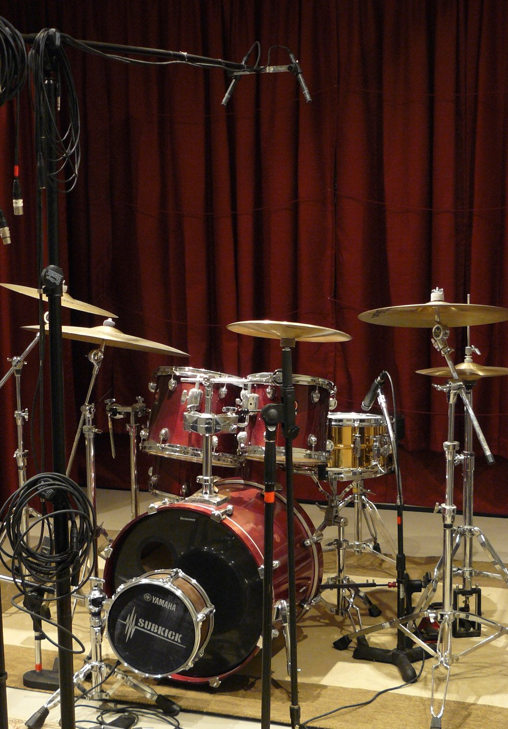 Studio Drums always at the ready