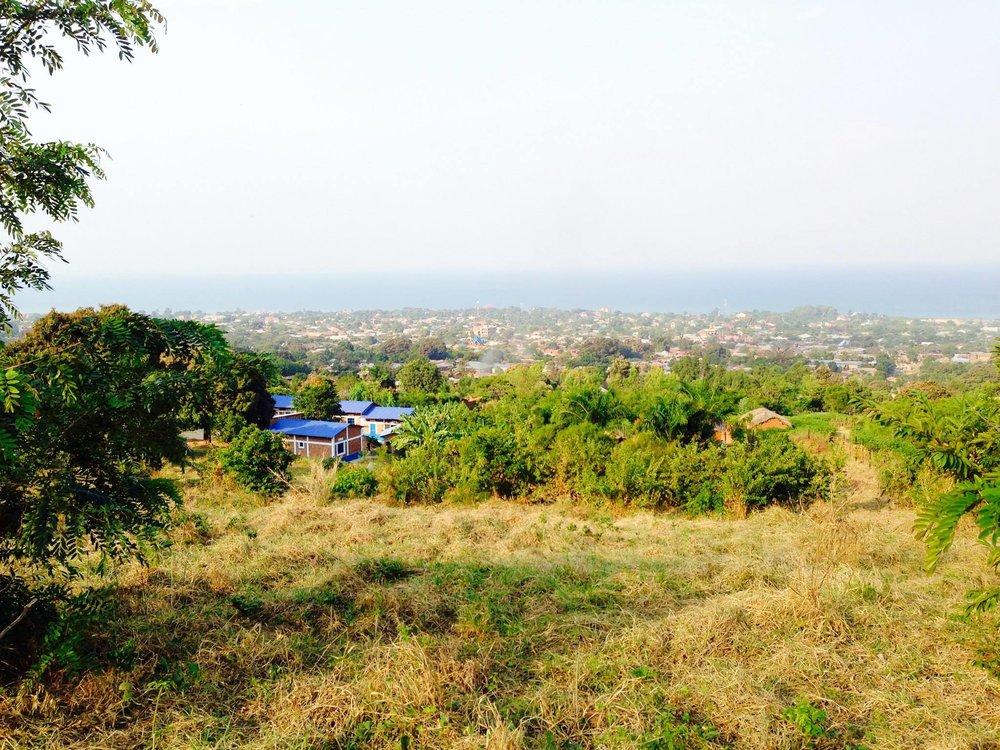 Mango Tree School sits on a hill overlooking Lake Tanganyika