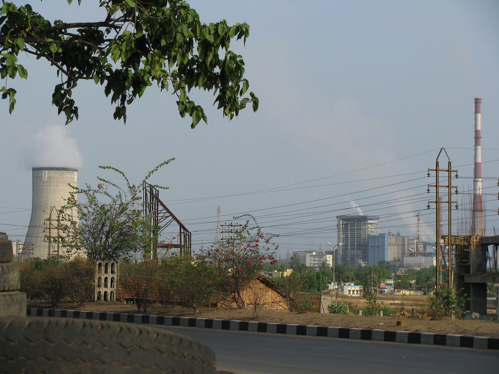 A coal fired power plant in india