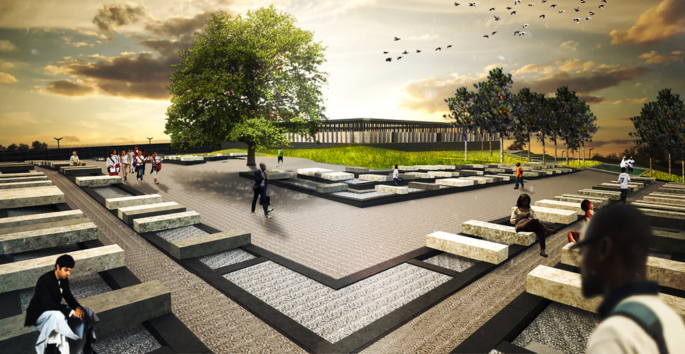 a rendering of the lynching memorial.