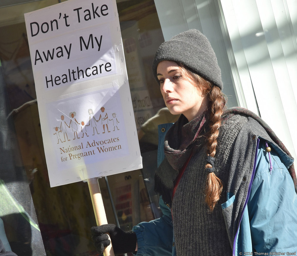 A pro-ACA demonstrator in December