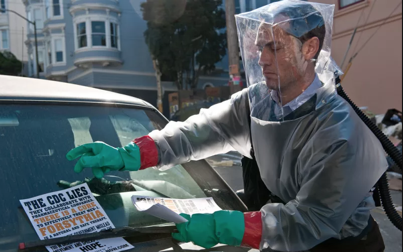 A scene from the movie contagion