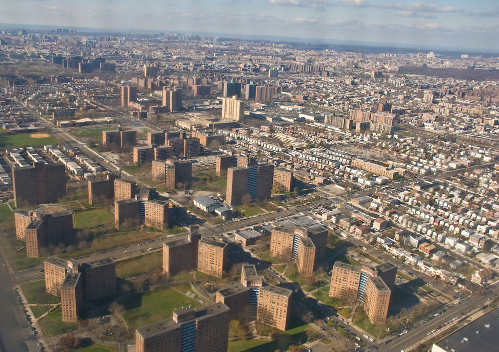 A housing project in the south bronx