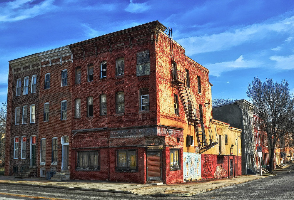 An abandoned building in Baltimore. Photo: Forsaken fotos