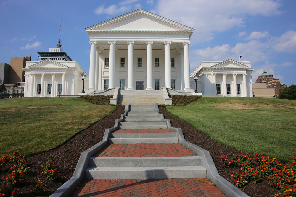 The Virginia State capital in Richmond