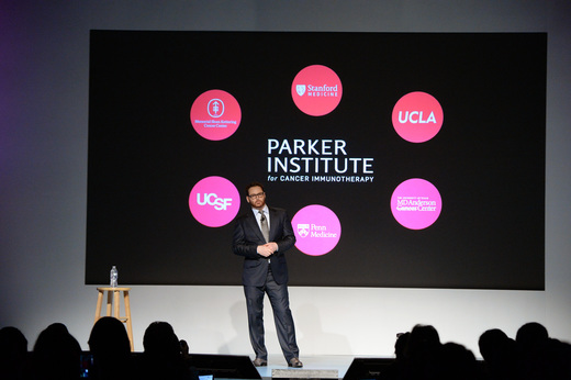 Sean Parker at the launch of the Parker INstitute