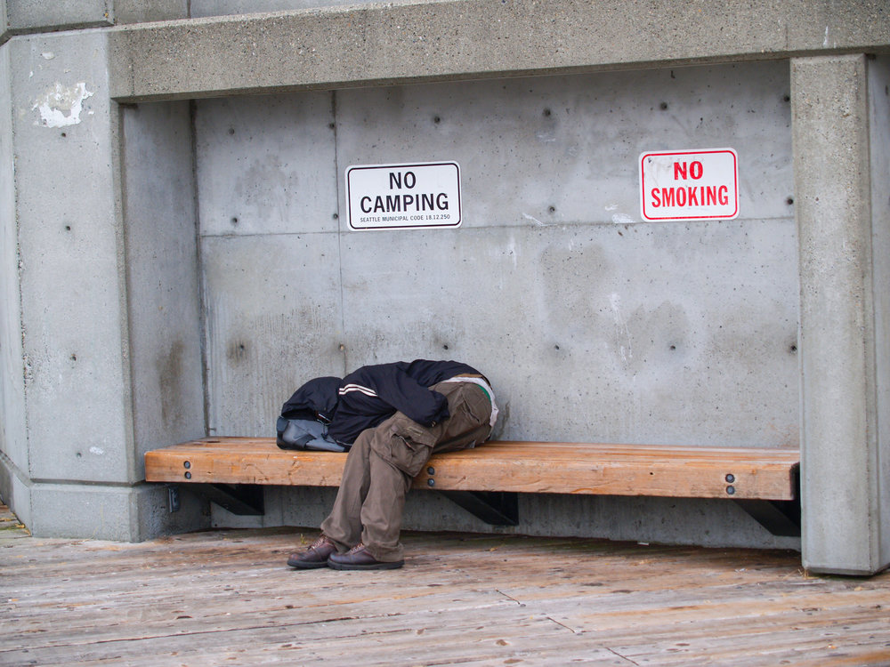 A homelessman in seattle. Brian S/shutterstock