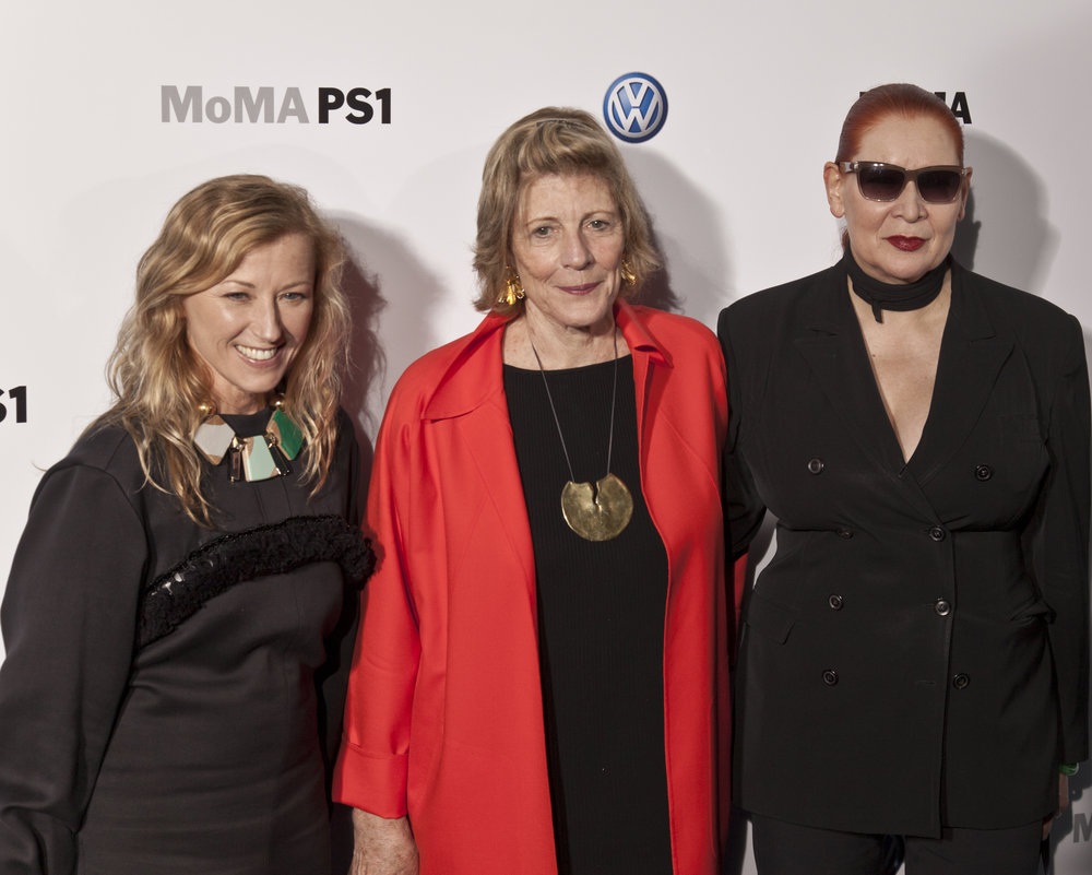 Agnes Gund (center) with Cindy Sherman and Katharina Sierverding. Photo:  lev radin/shutterstock