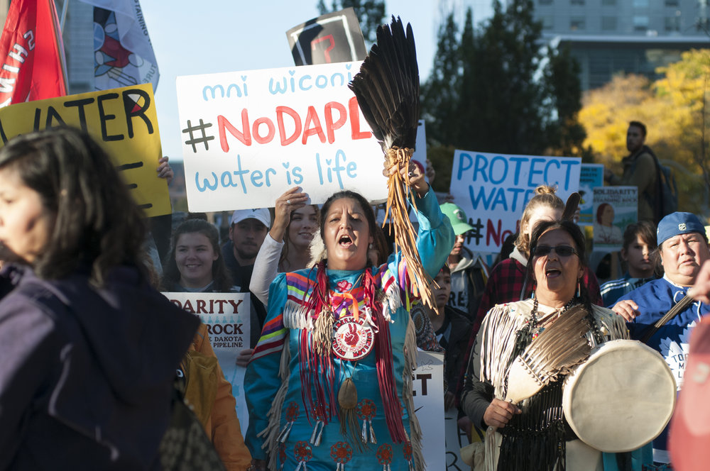 The solutions Project was a key funder of the standing rock movement. photo:  arindambanerjee/shutterstock