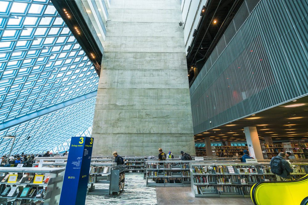 Seattle's public library. photo:Checubus/shutterstock