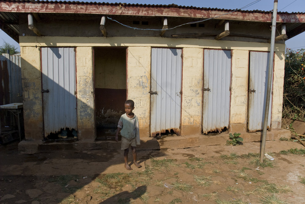 toilets outside a hospital in ethiopia. photo:  Clive Chilvers/shutterstock