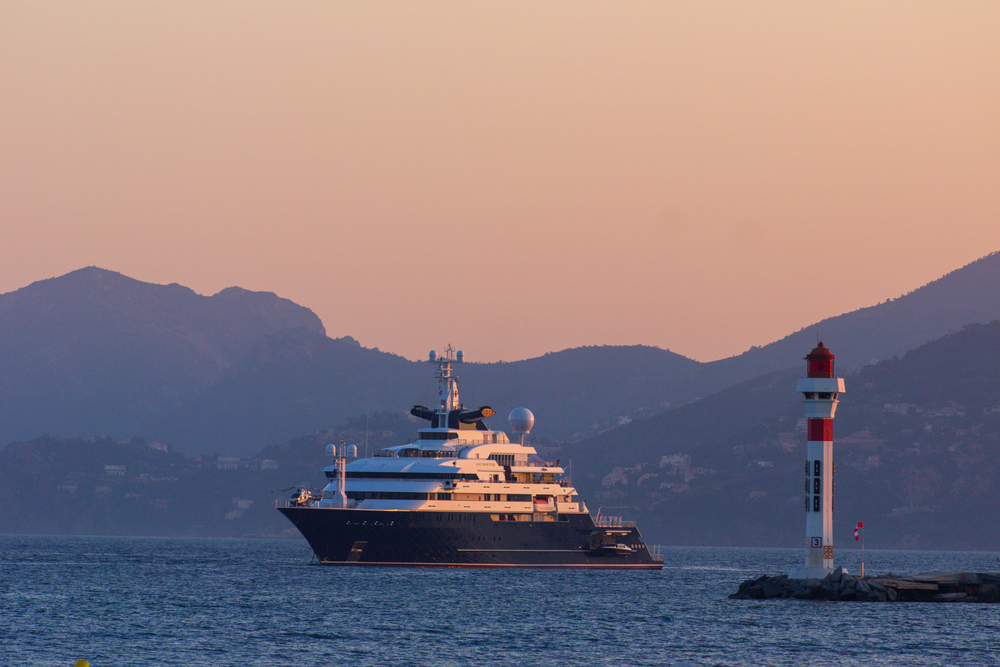 Paul Allen's ship, Octopus. photo:  LongJon/shutterstock