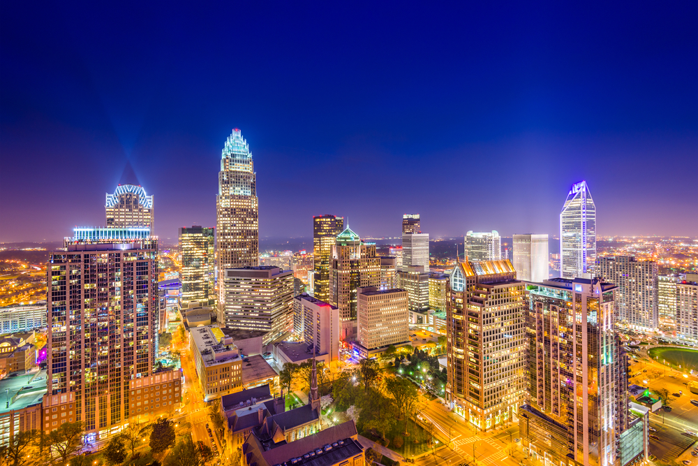 despite a glittering downtown, Charlotte, NC has the least upward mobility among top u.S. cities. Photo: ESB Professional/shutterstock