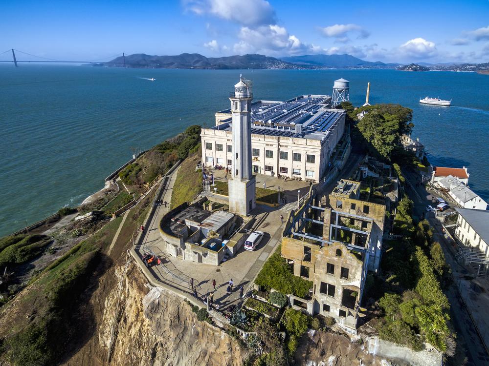 Alcatraz prison was one venue for a public art exhibit by Cheryl Haines. Photo:MintImages/shutterstock