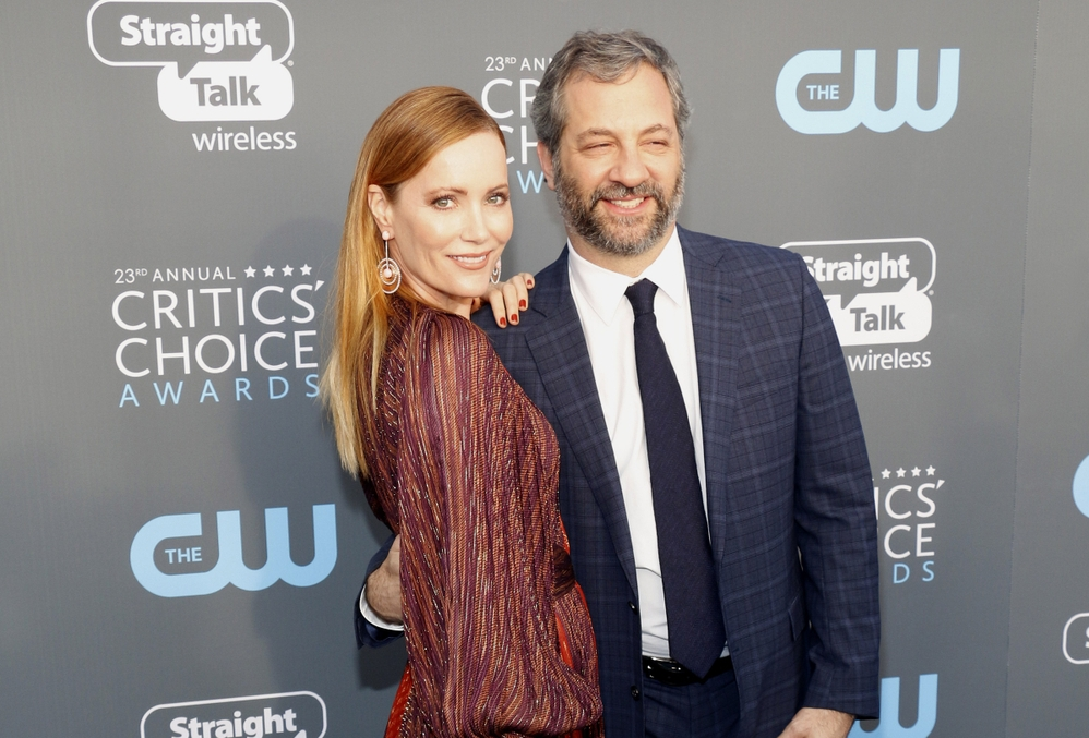 leslie mann and judd apatow. photo:Tinseltown/shutterstock