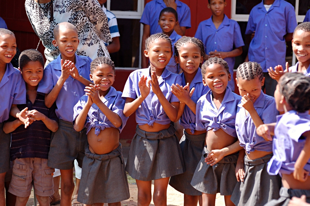 School children in Namibia.