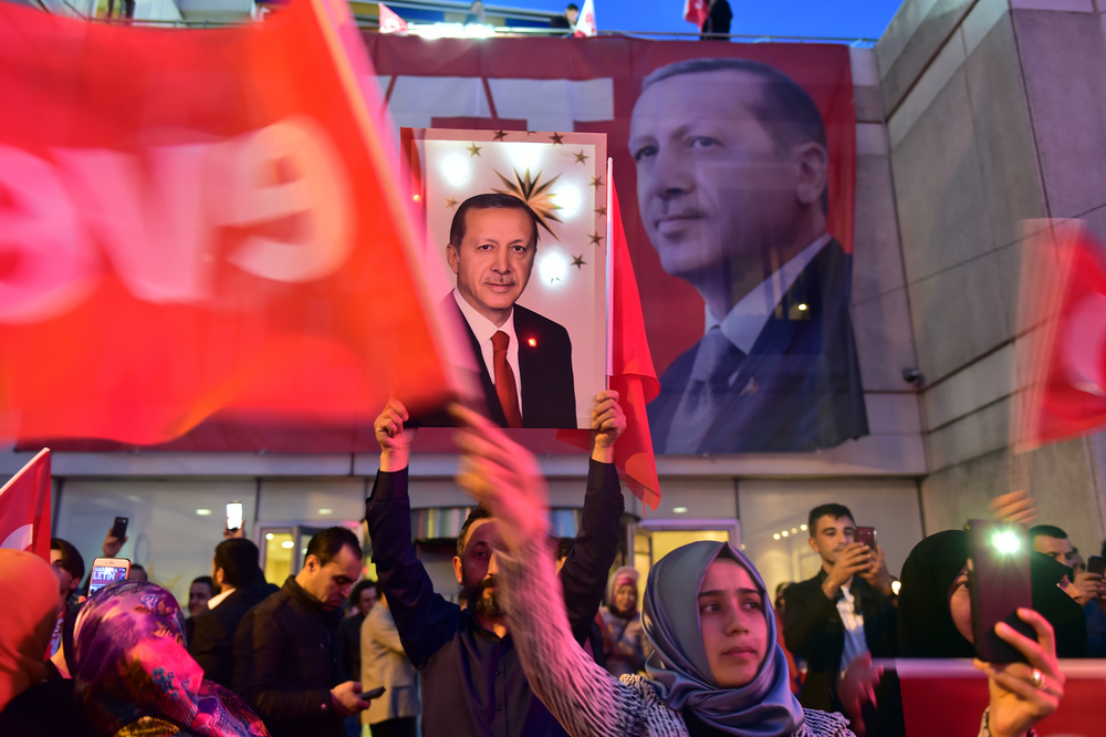 a rally for turkish president Erdogan. photo: thomas koch/shutterstock