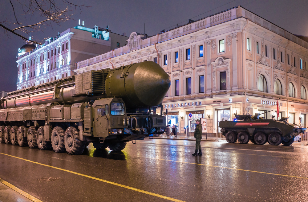 An ICBM in Moscow. photo: fifg/shutterstock