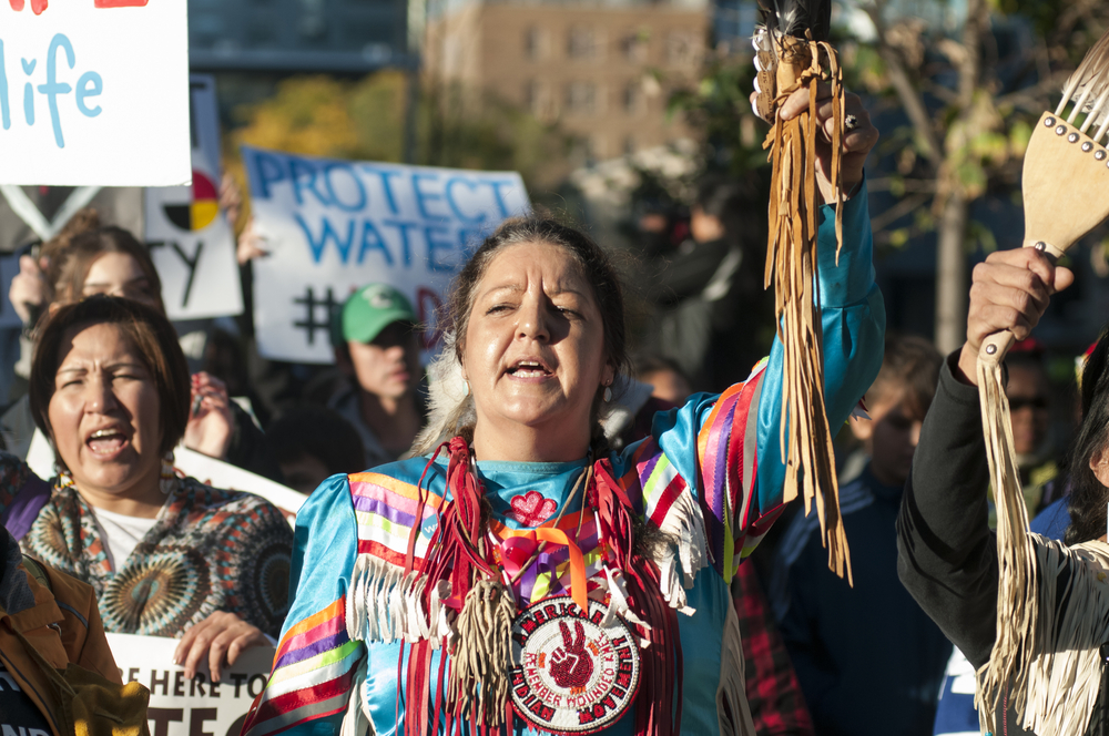A Standing Rock protest photo: arindambanerjee/shutterstock