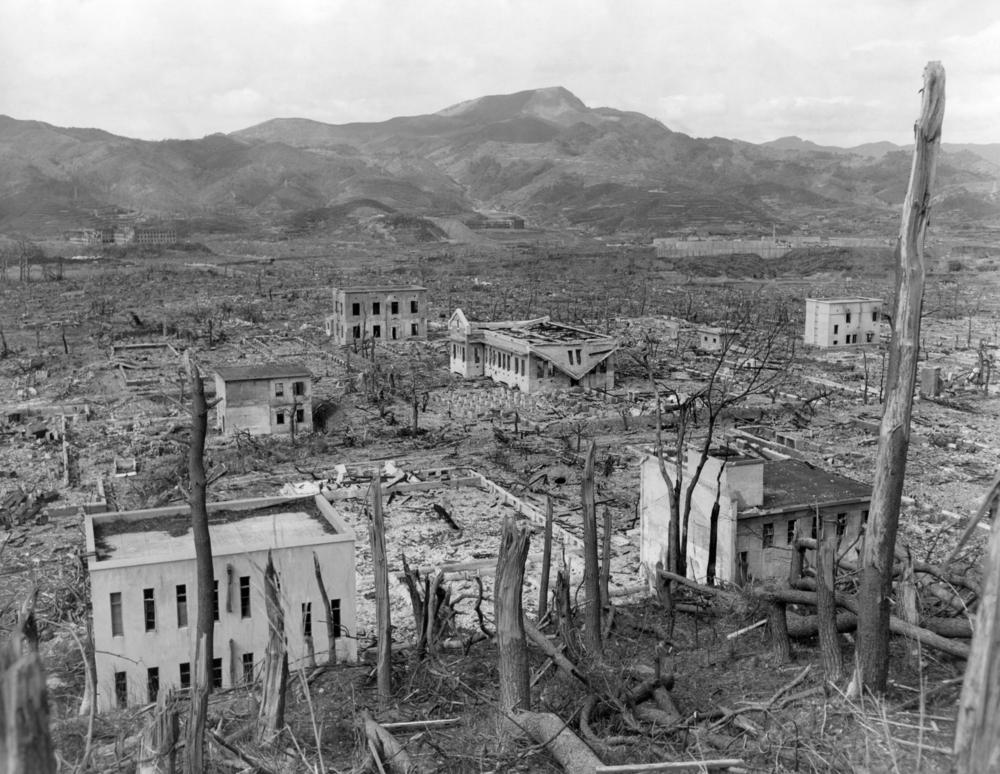 Ruins of Nagasaki, Japan. photo:Everett Historical/shutterstock