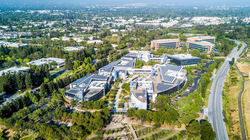 The googleplex in silicon Valley. Uladzik Kryhin/shutterstock