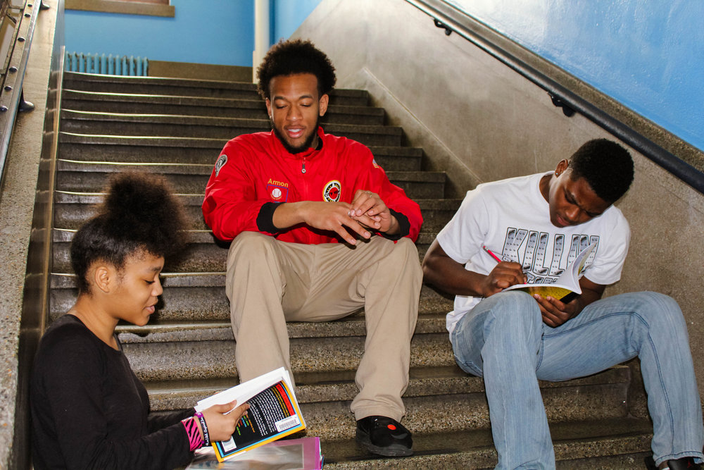 A city Corps member in a public school. photo: City Year
