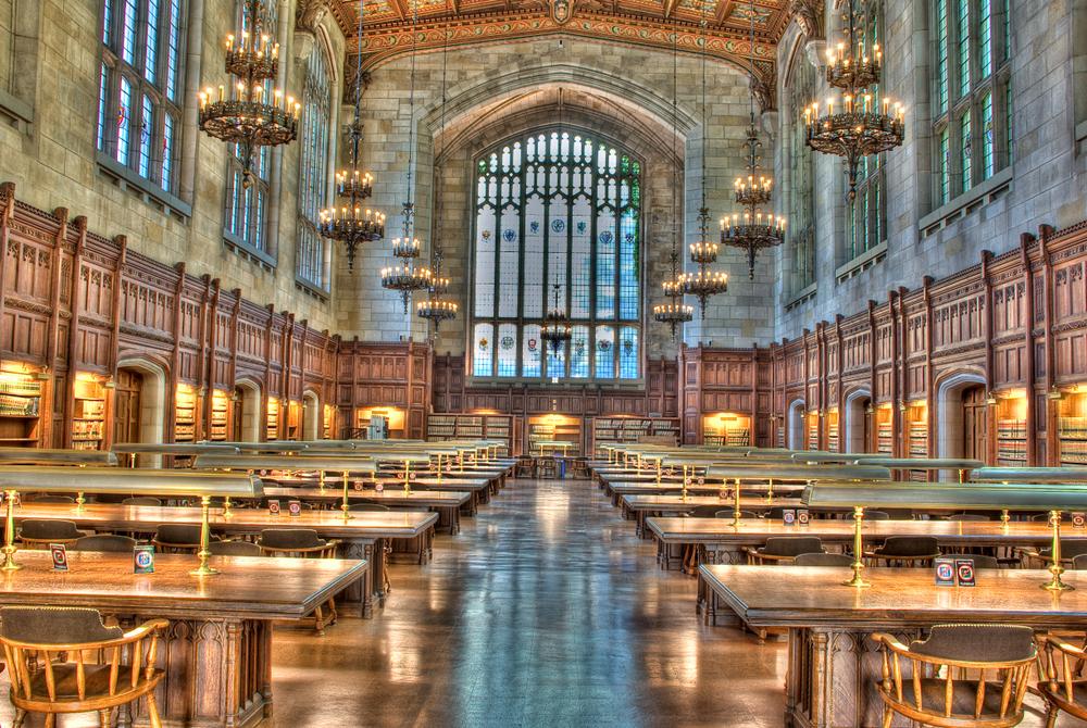 University of Michigan Law School Library. Wichai Cheva Photography/shutterstock