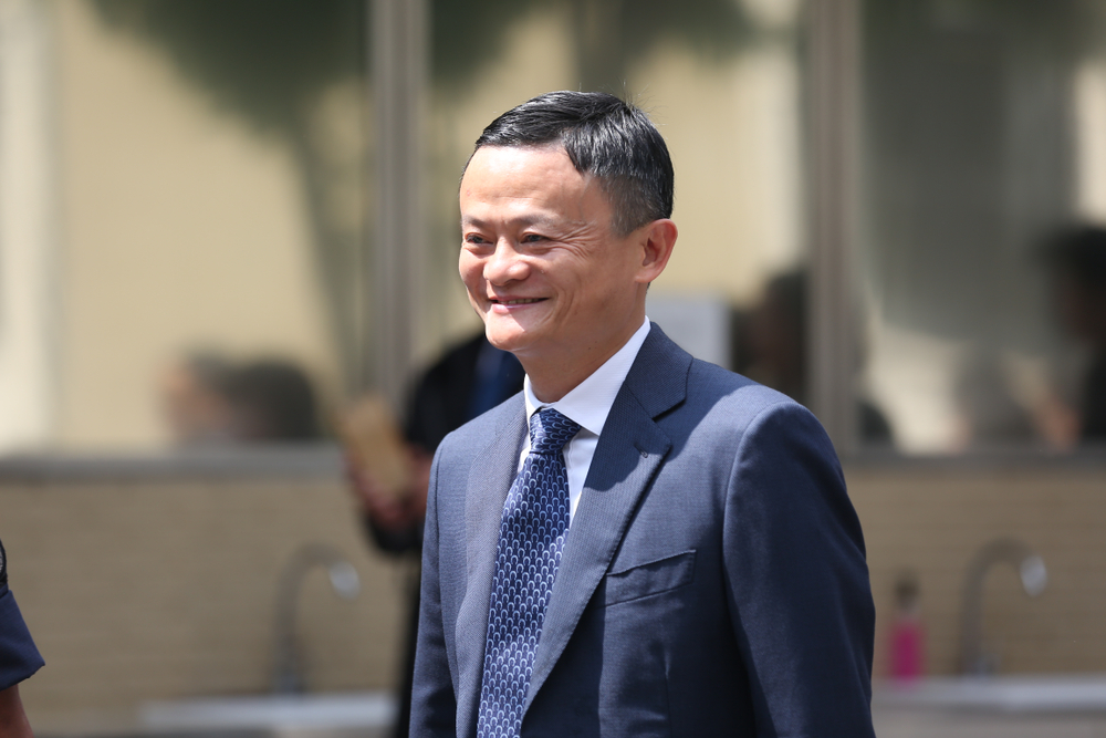 Jack Ma, China's richest man, recently retired from business to focus on philanthropy. feelphoto/shutterstock