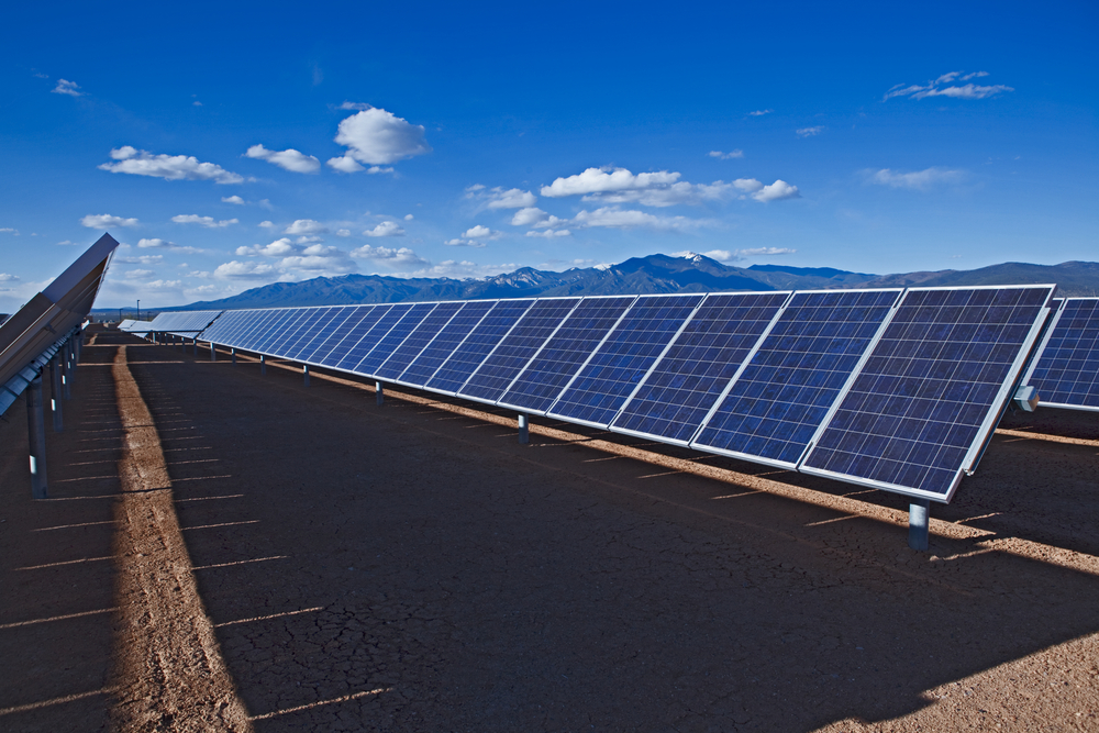 A solar facility in Taos, New Mexico. Mona Makela/shutterstock