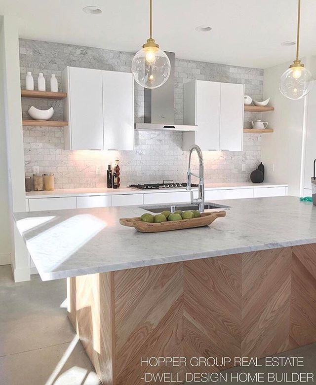 I toured this gorgeous Dwell Development home and was taken by the kitchen! Isn't it sweet!