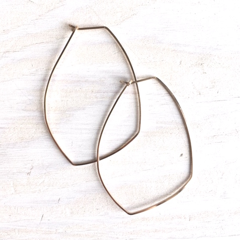 Geometric Hoop Earring Brass $30  Sterling $45