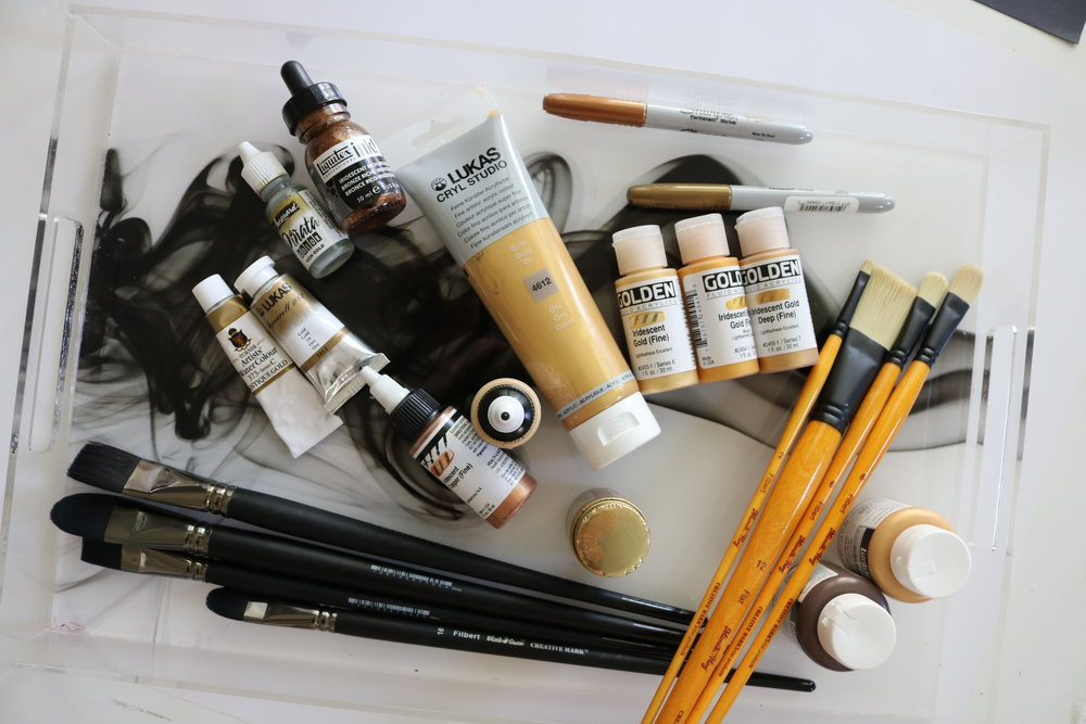 gold art supplies