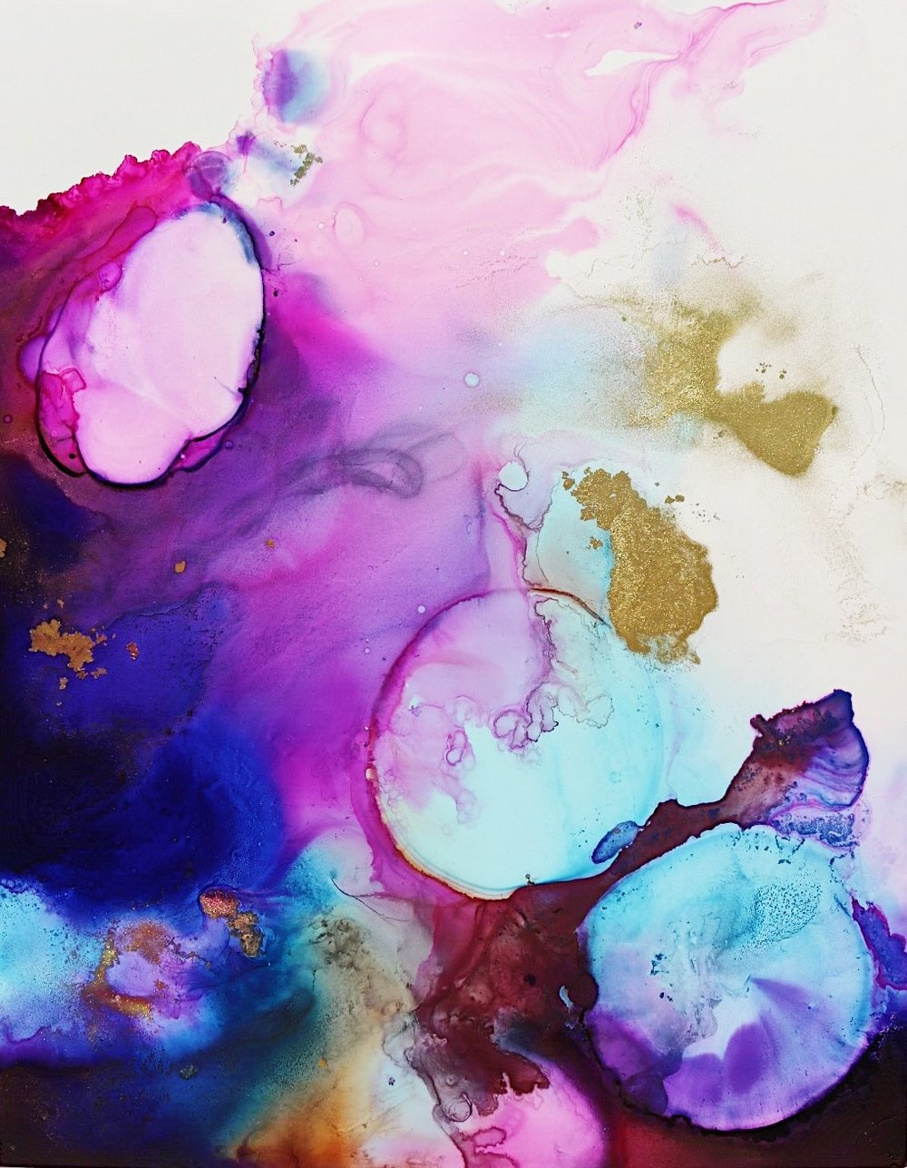 Cosmic Alcohol Ink art commission by jenna webb - original painting