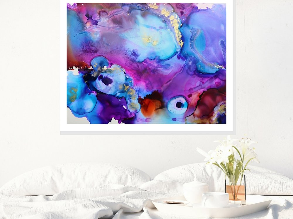 comsic colorful painting in bedroom.jpg