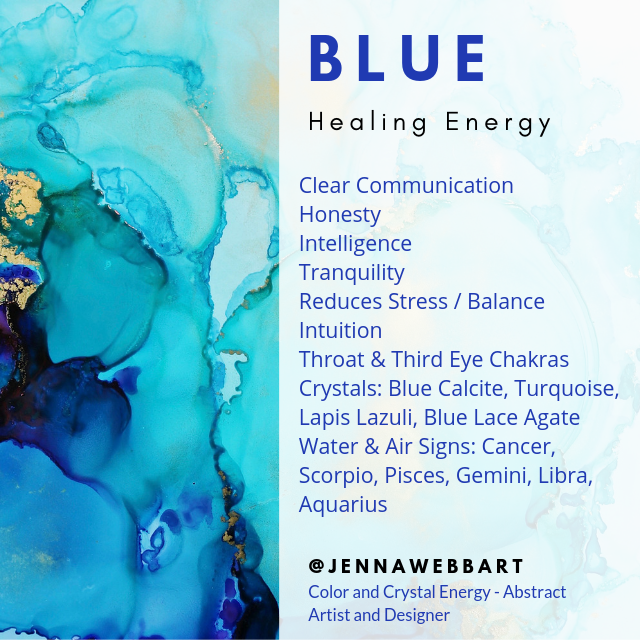 BLUE color and crystal energy infographic Jenna Webb Art.png