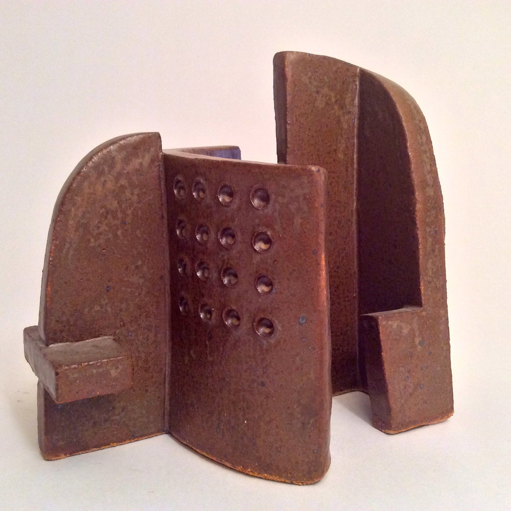 """Sculpture clay with glaze 2009. 8"""" H."""