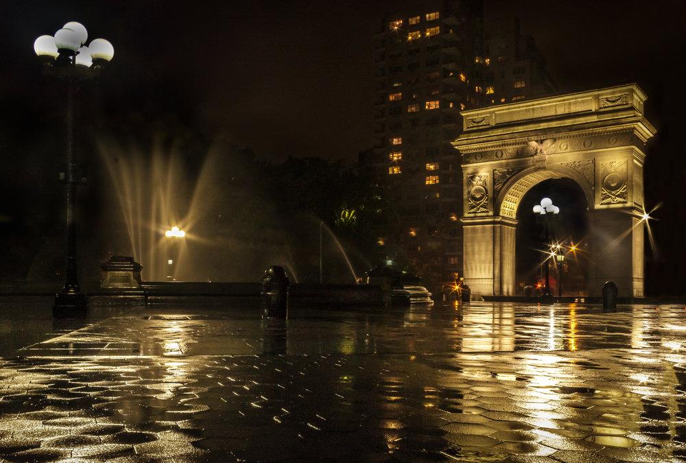 A very unglamorous shoot in the rain (Location: Washington Square Park)