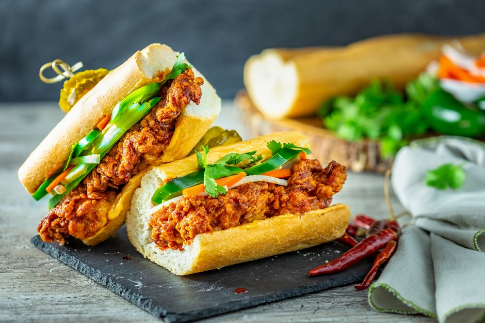 NASHVILLE HOT CHICKEN BANH MI - VIEW RECIPE