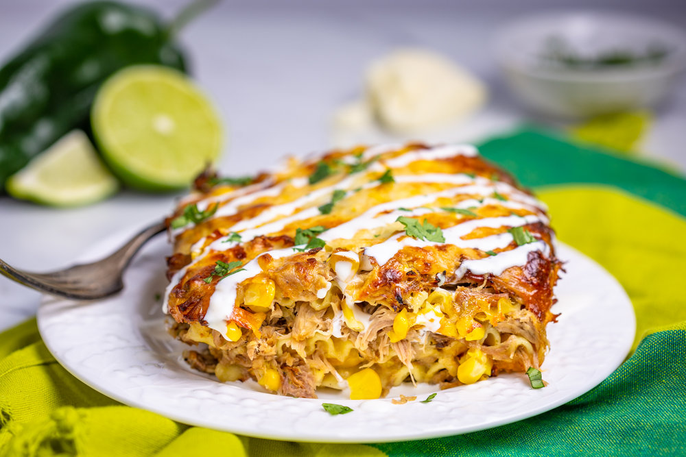 GREEN CHILE PORK & ELOTE LASAGNA - VIEW RECIPE