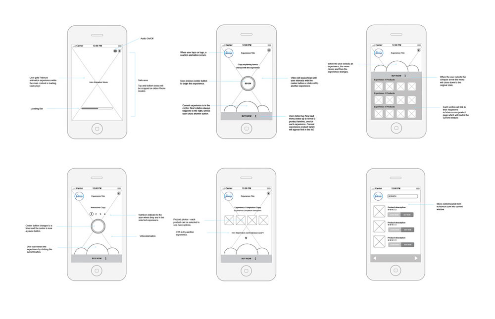 Mobile iOS Wireframes