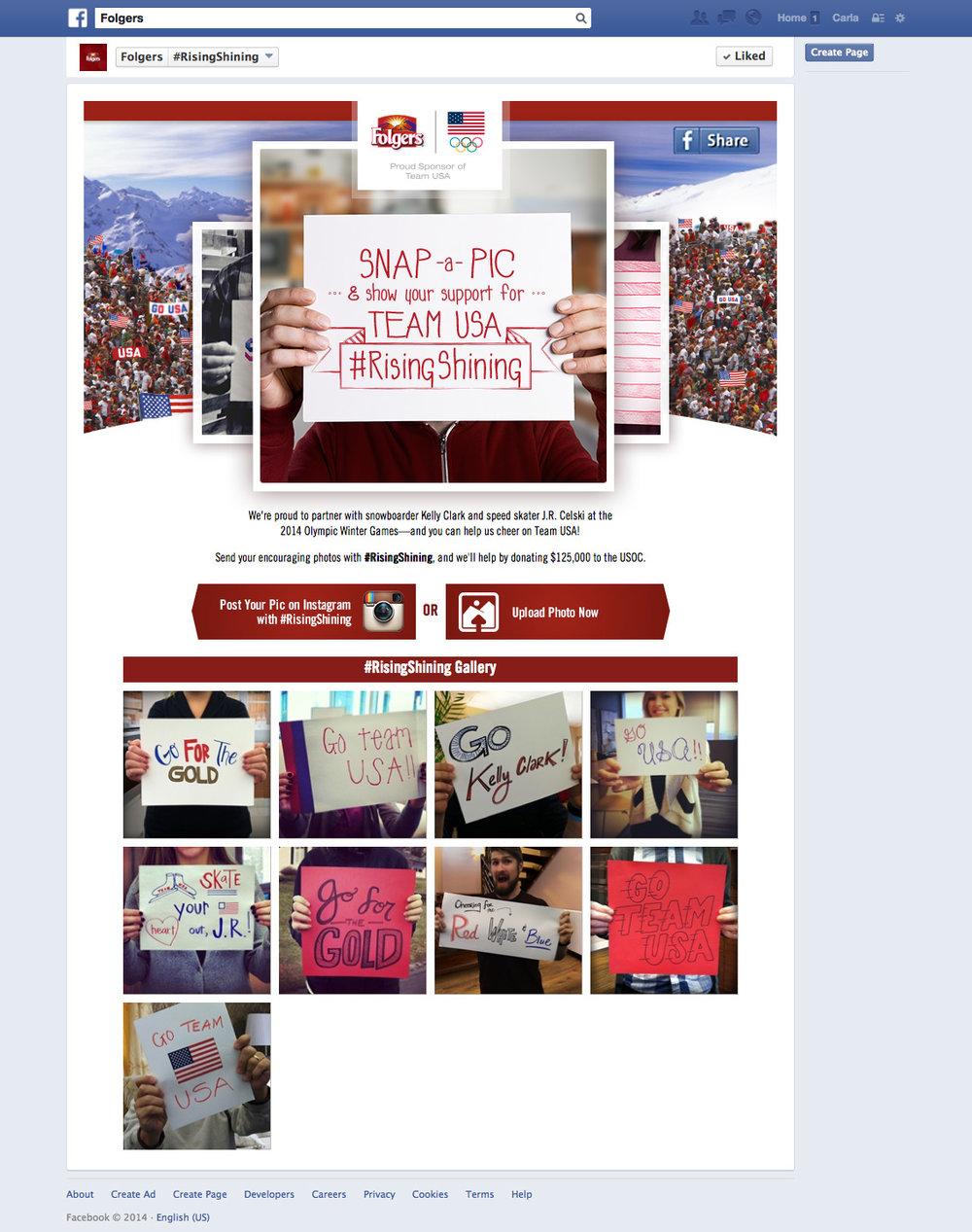 Facebook Campaign Page Creative