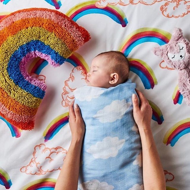 Kip & Co. - they seriously always have the cutest prints for the little ones.  We have a lot of new goodies coming. 📷 @kipandcousa .... #babybedding #kidsbedding #rainbows #childrensboutique #houstonshopping