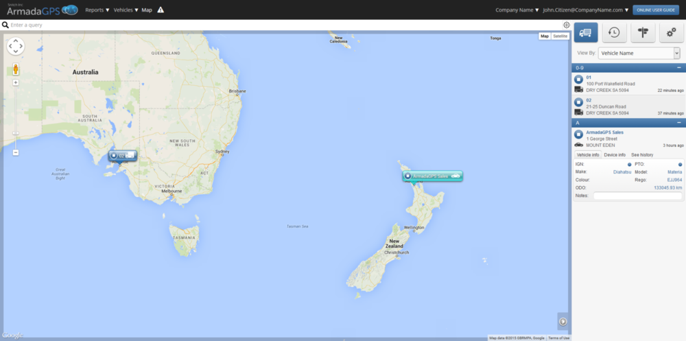 Global Map view