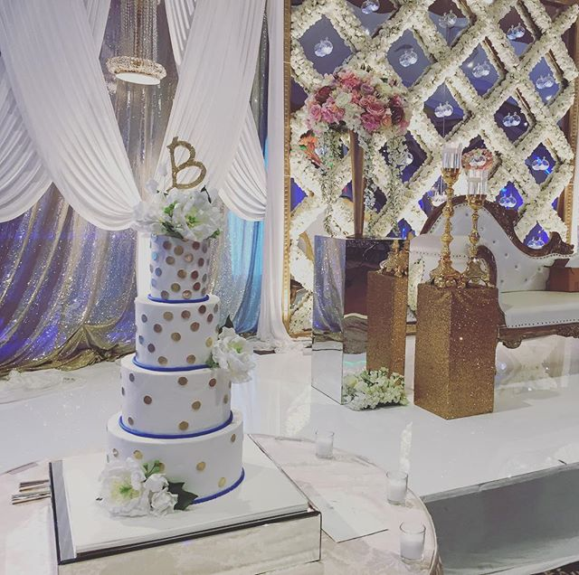Celebrating Shallan & Amit tonight at @marigold_nj along with @weddingdesignanddecor @cinderellabridez @joieeliephotography @djinsomnia #weddingseason #weddings #nj #nyc #philly #cake #bestof #customcake #sugarflowers #bride #groom #trendy #onpoint #weddingcake #itsallinthedetails #thecakery