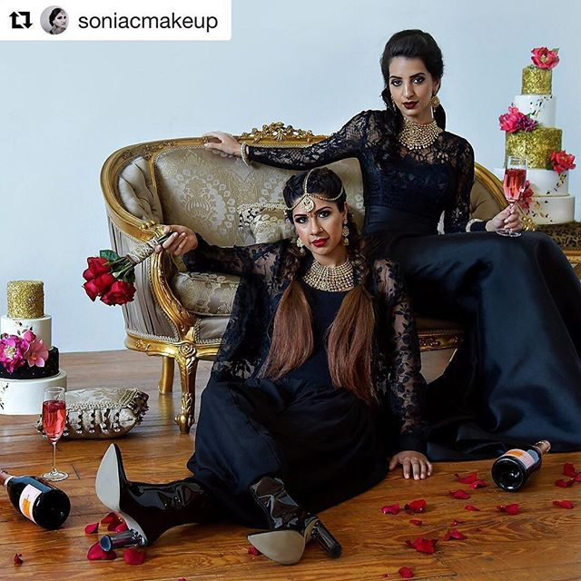 Thank you @soniacmakeup for making us part of this amazing styled shoot colab with such a talented bunch!!! #Repost @soniacmakeup ・・・ 🌹bad bridesmaids🌹 ---------------------------------------------- Styled shoot collab Model 🕷@ultralightbeens Model 🕷@ferrarisandsaris  Baked 🕷@thecakerybakeshop Jewels🕷gehena jewelry edison  HMUA 🕷@gsll_aguirre HMUA 🕷photo @soniacmakeup ---------------------------------------------- #editorial #bridesmaids #bridalhair #fashion #style #redlips #editorialmakeup #art #inspiration #browngirl #luxe #luxelife #strongwomen #bachelorette #nyc #blacklace #desigirl #themaneevent #streetstyle #thefutureisfemale #njmakeup #unconventional #nycmakeup #model #photoshoot #indianbride