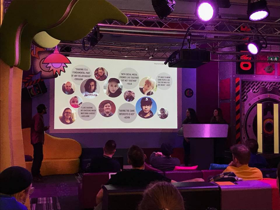 Our team pitching our findings at the BBC.