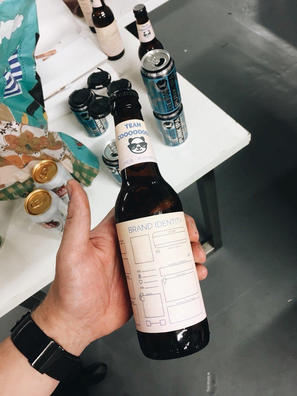 Label Prototype of ShinDigger's workshop beer for businesses