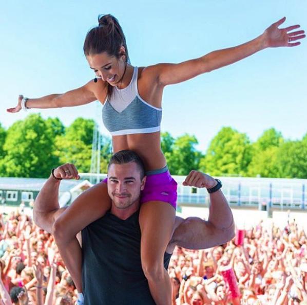 Bikini Body Guide founders: Kayla Itsines and Tobias Pearce (Image c/o Instagram)